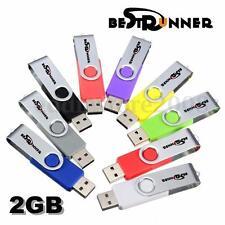 BESTRUNNER 2GB 2G Swivel USB 2.0 Flash Drive Memory Stick Thumb Storage U Disk