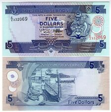 **   SALOMON  Islands     5  dollars  1997   p-19    UNC   **