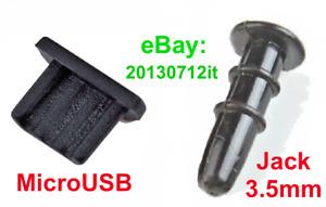Silicone 3.5mm + Micro USB Plug Cap Anti-Dust Protector for Samsung Galaxy A10