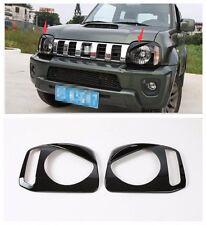 ABS Head Light Lamp Cover Trim Frame  for Suzuki Jimny 2007-2015 -Black 2 pcs