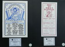 JIMI HENDRIX : ISLE OF WIGHT FESTIVAL 1970 - 2 LIMITED EDITION POSTERS