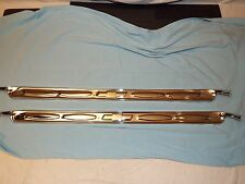 67 68 69 70 71 72 Chevy GMC Truck BowTie Stainless Steel Carpet Sill Plates Pair