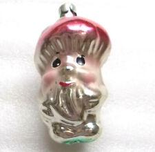 Vintage Russian USSR Silver Glass Christmas Ornament Xmas Decoration Mushroom