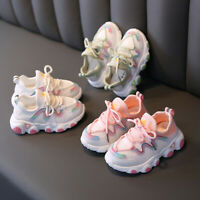 Toddler Infant Kids Baby Girls Mesh Breathable Lace Up Soft Shoes Sneakers