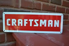 CRAFTSMAN SEARS TOOL SIGN Mechanic Workbench Shop Advertising Logo Garage