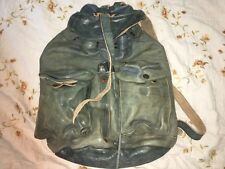 RRL Ralph Lauren Hand-Dyed Indigo Leather Backpack Rucksack Bag - New With Tags