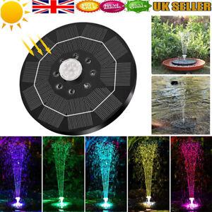 LED 3.5W Solar Powered Water Feature Pump Garden Pool Pond Aquarium Fountain  UK