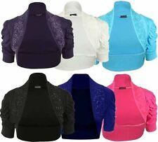 Women's Cotton 3/4 Sleeve Boleros Shrugs Jumpers & Cardigans