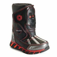 NEW STAR WARS Light-Up Waterproof Insulated Boys Snow Boots DARTH VADER & R2-D2