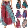 Women Hippie Bohemian Long Skirt Gypsy Boho Elastic Waist Halter Beach Dresses