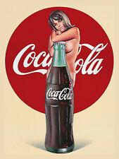 Coca Cola Girl, Retro metal Sign/Plaque, Gift, Home, Kitchen, Bar/ Pub