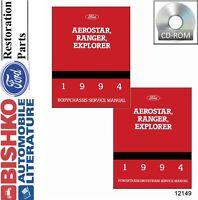 1994 Ford Aerostar Explorer Ranger Shop Service Repair Manual CD