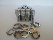 "Ford Weld Wheel Nuts & Washers 20pcs 1.32"" Long Shank x 1/2"" UNF Stud WE601-1416"