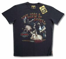 "HARLEY DAVIDSON & TRUNK LTD DESIGNER ""RIDIN' HOGS"" T-SHIRT - NWT S"