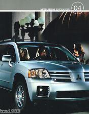2004 Mitsubishi Endeavor Catálogo / CATALOG con tabla de colores: LS,XLS,Limited
