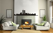 New York Skyline - Wall Art Vinyl Decal Sticker Removable NYC Large Matte Black