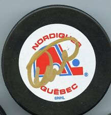 DALE HUNTER QUEBEC NORDIQUES SIGNED PUCK w/ COA