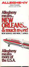 ALLEGHENY AIRLINES | June 15, 1979 | Timetable