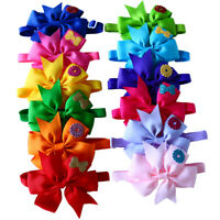 Cute Pet Puppy Dog Cat Bow Ties with Cute Flower Dog Collars Dog Accessories