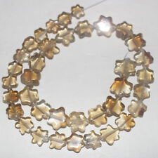 85CARTS 12.5'' 7to10MM NATURAL GEMSTONE CITRINE CARVED STAR BEADS STRAND 521
