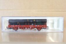 ELECTROTREN 1428 RENFE TRANSFESA STAKE WAGON with MANNESMANN PIPE LOAD np
