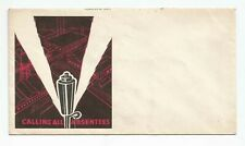Andrews PtgCo 1940s patriotic cachet Cover WW II homefront Calling All Absentees