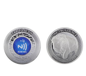 Mint ID 1 OZ .999+ NFC Chip Verified Silver Round - Phone app authentication