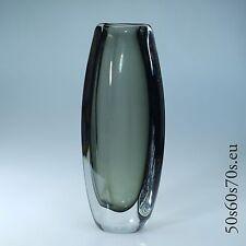 Glas Vase Schweden H=30,3 cm - 3,4 kg - 60s Design #352