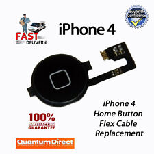 NEW BLACK Complete Home Button with Flex Cable Replacement For iPhone 4 (A1332)