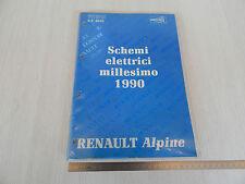 MANUALE SCHEMI ELETTRICI OFFICINA ORIGINALE 1990 RENUALT ALPINE V6 GT V6 TURBO
