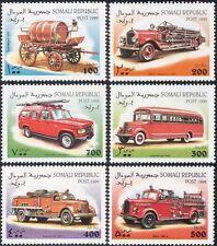 Somalia 1999 Fire Engines/Emergency/Rescue/Motoring/Transport 6v set (n14417)