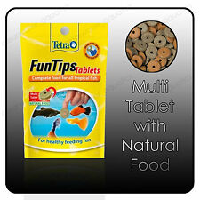Tetra FunTips 20 Stick On Glass Fish Treat Tablets Complete Aquarium Wafer Food