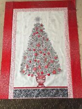 Winters Grandeur Christmas Tree Panel- 100% cotton quilting fabric- 60 x 110cms