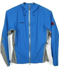 Mammut Dry Tech Premium Hooded Full Zip Jacket Blue Mens Size Large