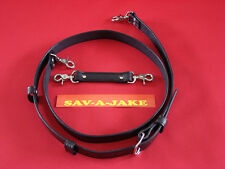 Sav-A-Jake Firefighter 2 pc. Leather Radio Strap Set Black XL Size