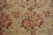 PAIR vtg Ralph Lauren Guinevere CURTAIN PANELS Drapes 49x101 EUC floral sateen