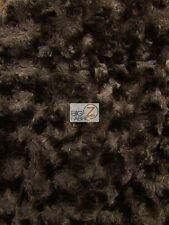 ROSE/ROSETTE MINKY FABRIC - Chocolate - BY THE YARD BABY SOFT FUR BLANKET DECOR