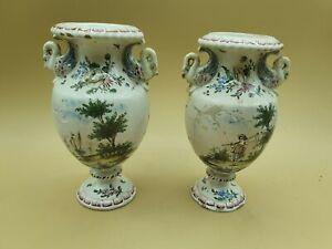 Vase faience Veuve Perrin Marseille vers 1780 -1820 year H 17 cm