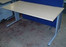 1600mm Straight Desk Beech Finish.Office Desk, Office Furniture.Cable Management