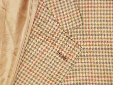 BRIONI PURE CASHMERE Brown Gun Club Shepherd Check Jacket Sport Coat 42 L 2 Vent