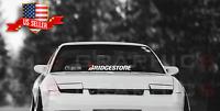 Aftermarket Compatible to Bridgestone Windshield Banner Decal Sticker jdm usdm