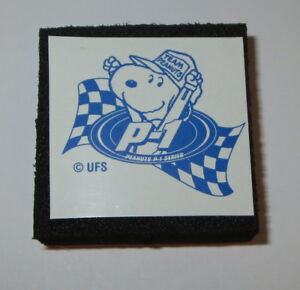 Snoopy Rubber Stamp Team Peanuts New Racing Car P-1 Flag Foam Mounted