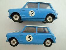 VINTAGE CORGI TOYS 227 MORRIS MINI COOPER RALLY CAR PAIR  ISSUED 1962-65