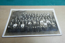 Real photo postcard of mill office workers group photo .unposted.Art