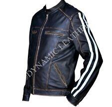 LEON KENNEDY RESIDENT EVIL VENDETTA Cuero Negro chaqueta-bnwt