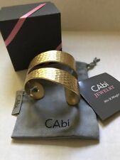 """cabi #2026 """"Hammered Brass Cuff Bracelet"""" - New - Retired"""