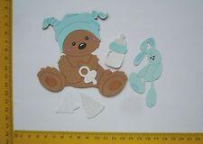 Stanzteile Scrapbooking  Kartenaufleger  Sticker Baby Geburt 4