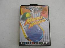 """USED """"MARBLE MADNESS"""" FOR SEGA GENESIS WITH MANUAL IN BOX."""