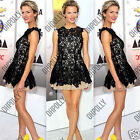 Womens Floral Lace Prom Cocktail Party Evening Skater Tunic Ladies Summer Dress