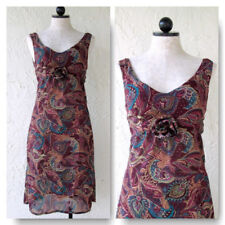 Boho Paisley Dress Vintage Sleeveless Handmade Lightweight